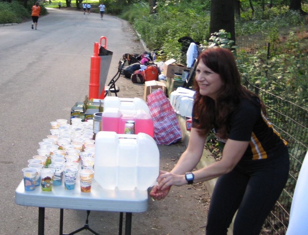 Coach Mindy at water table at long run 2008