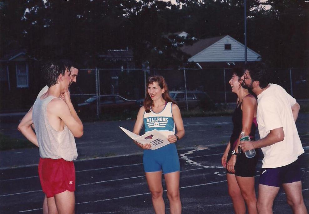 Coach Mindy coaching in Brooklyn 1992