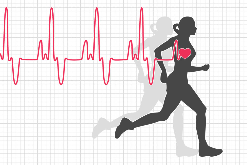 Heart rate female runner