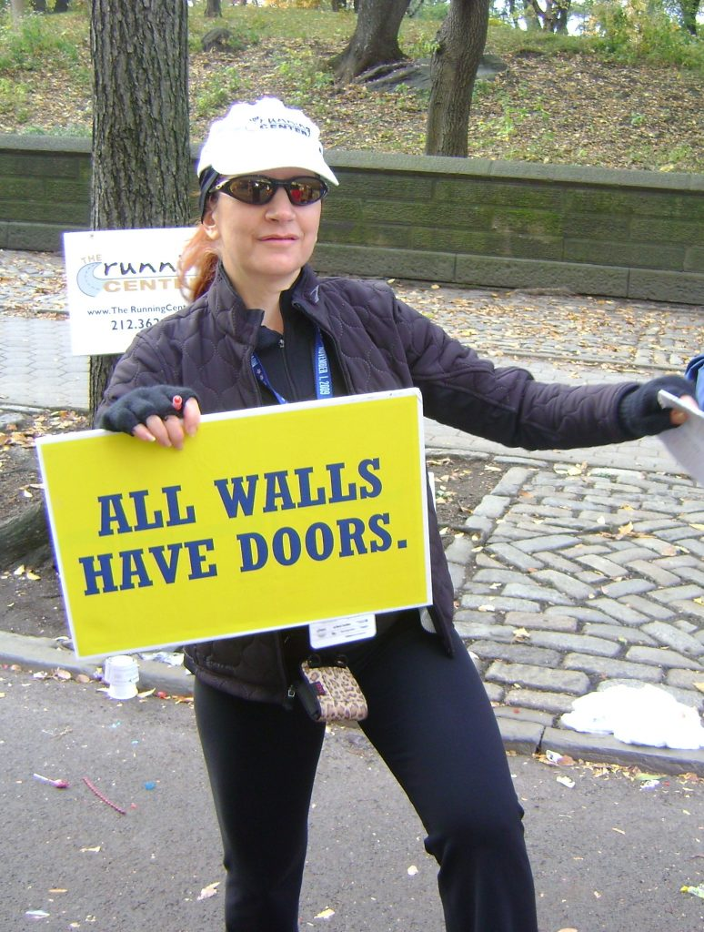 Coach Mindy at NYC Marathon 2009